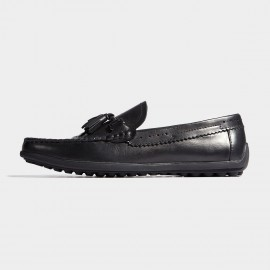 Herilios Buckles Brogues Classic Black Loafers (H7105D83)