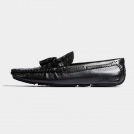 Herilios Woven Checkers Classic Black Loafer (H7105D82)