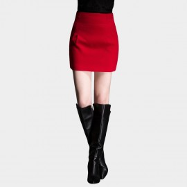 SSXR High Waistline Mini Red Skirt (5170)
