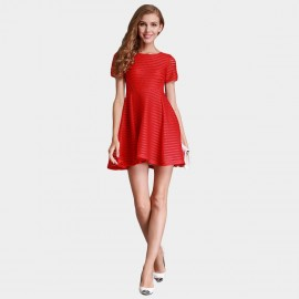 SSXR See Thru Mesh Trumpet Red Dress (5237)