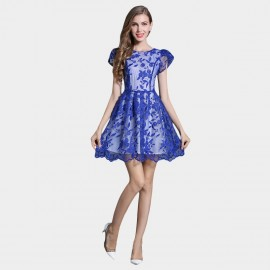 SSXR Princess Sleeves Gauze Blue Dress (5337)