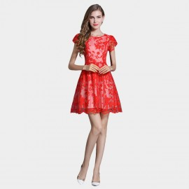 SSXR Princess Sleeves Gauze Red Dress (5337)