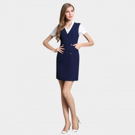 SSXR Double Button Pocket Vest Navy Dress (5344)