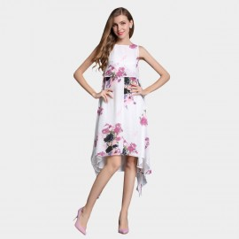 SSXR Irregular Swing Chiffon Rose Dress (5330)