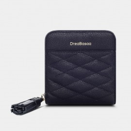 Dreabassa Diamond-Pattern Black Wallet (DR172)