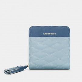 Dreabassa Diamond-Pattern Blue Wallet (DR172)