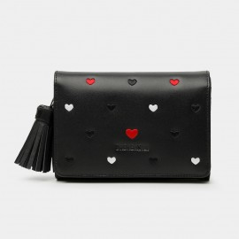 Dreabassa Heart-Pattern Black Wallet (DR79)