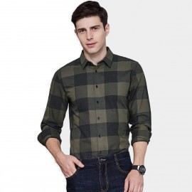 Qzhihe Plaid Green Shirt (HMC1330)