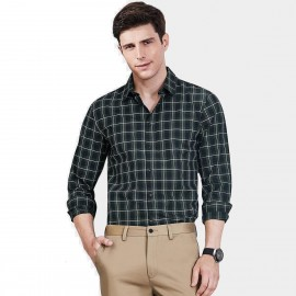 Qzhihe Checkered Green Shirt (HMC1331)