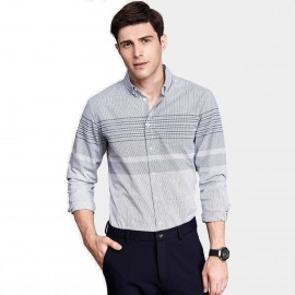 Qzhihe Parallel Line Grey Shirt (HMC1336)