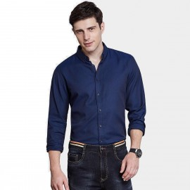 Qzhihe Simple Blue Shirt (HMC1352)
