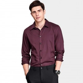 Qzhihe Smooth Silky Wine Shirt (HMC1359)
