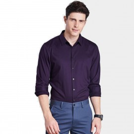 Qzhihe Smooth Silky Purple Shirt (HMC1359)