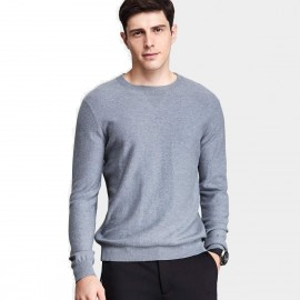 Qzhihe Round Neck Solid Grey Knit (HMM5071)