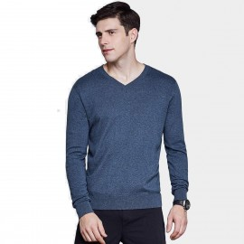 Qzhihe Light V-Neck Line Navy Knit (HMM5073)