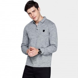Qzhihe Delight Grey Polo Shirt (HMT2317)