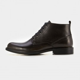 Herilios Plain Toe Brogue Black Boots (H7105G06)