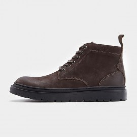 Herilios Plain Toe Working Style Brown Boots (H7305G11)