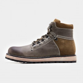 Herilios Multi-Fabric High Khaki Boots (H7305G16)