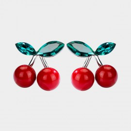 Caromay Sweet Cherry Red Earrings (E2279)