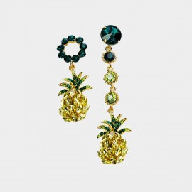 Caromay Uneven Pineapple Champagne Gold Earrings (E2275)