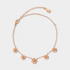 SEVENTY 6 Autumn Daisy Gold Anklet (3840)