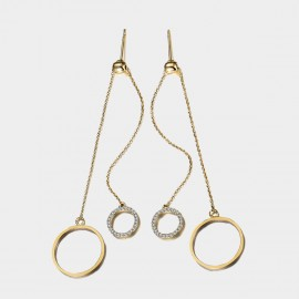 SEVENTY 6 Shared Happiness Gold Earrings (20076)
