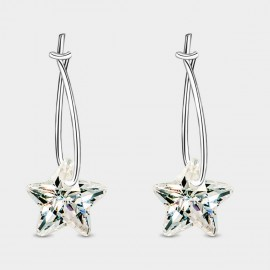 SEVENTY 6 Crystal Star White Earrings (20147)