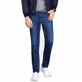 Qzhihe Regular Fit Denim Blue Jeans (HMN7736)