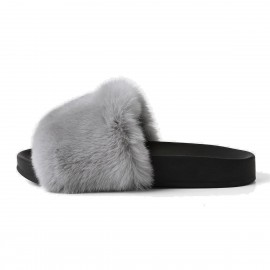 Superelephant Furry Grey Slippers (AKDA2602)