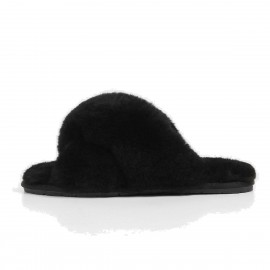 Superelephant Fleecy Black Slippers (TX-1)