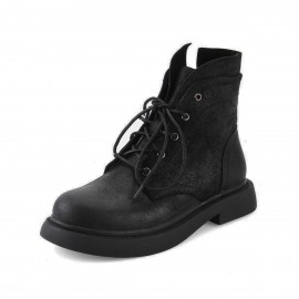 Superelephant Raw Black Boots (W431-15)