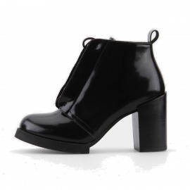 Superelephant Glossy Black Boots (ZF2806L)