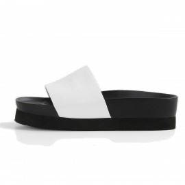 Superelephant Korean White Slippers ( A21-1)