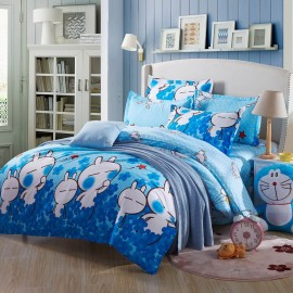 Aix Tuzki Rabbit Blue Bed Linen (LJ17083)