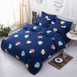 Aix Colourful Mushrooms Navy Bed Linen (LJ17088)