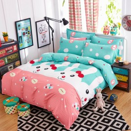 Aix Cute Rabbit Green Bed Linen (LJ17092)