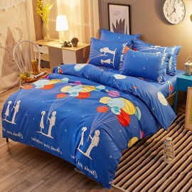 Aix Astronaunt With Star Balloons Blue Bed Linen (LJ17094)