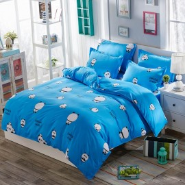 Aix Cute Panda Cartoon Blue Bed Linen (LJ17097)