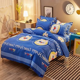 Aix Easter Rabbit Cartoon Blue Bed Linen (LJ17099)