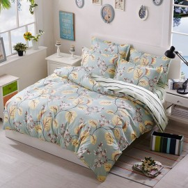 Aix Flowering Tree Green Bed Linen (LJ17101)