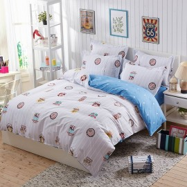 Aix College Print Grey Bed Linen (LJ17103)