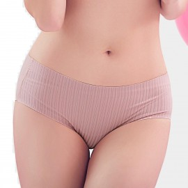 Bramagi Hidden Stripe-Pattern Redbean Panties (BM3002)