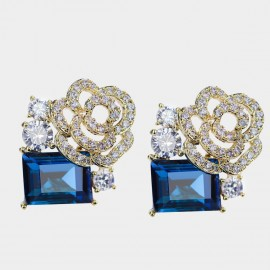 Caromay Rosy Cloud Blue Earrings (E3282)