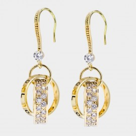 Caromay Strong Connection Champagne Gold Earrings (E3336)