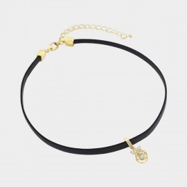 Caromay Crown Champagne Gold Choker Necklace (X1965)