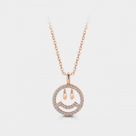 Seventy 6 Happy Face Rose Gold Necklace (B2567)