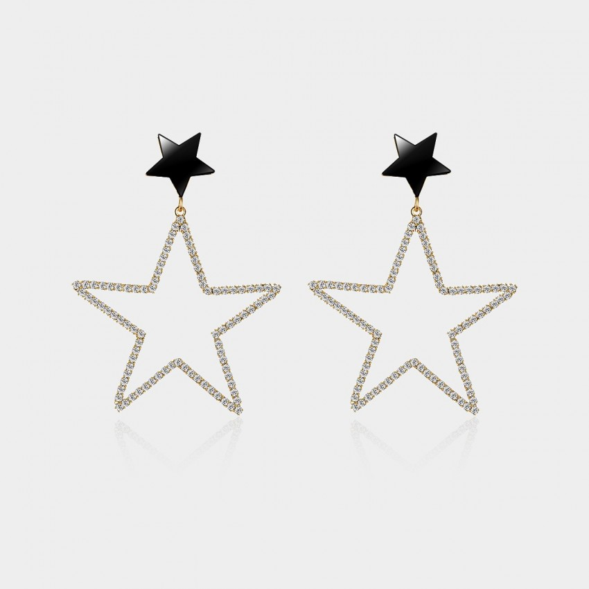 Caromay Parent Stars Rose Gold Earrings (E0183)