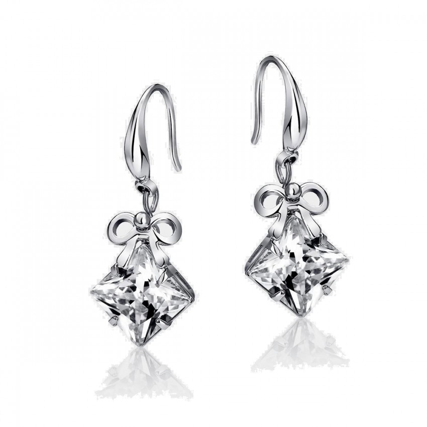 Caromay Brilliant Ribbon Silver Earrings (E0212)