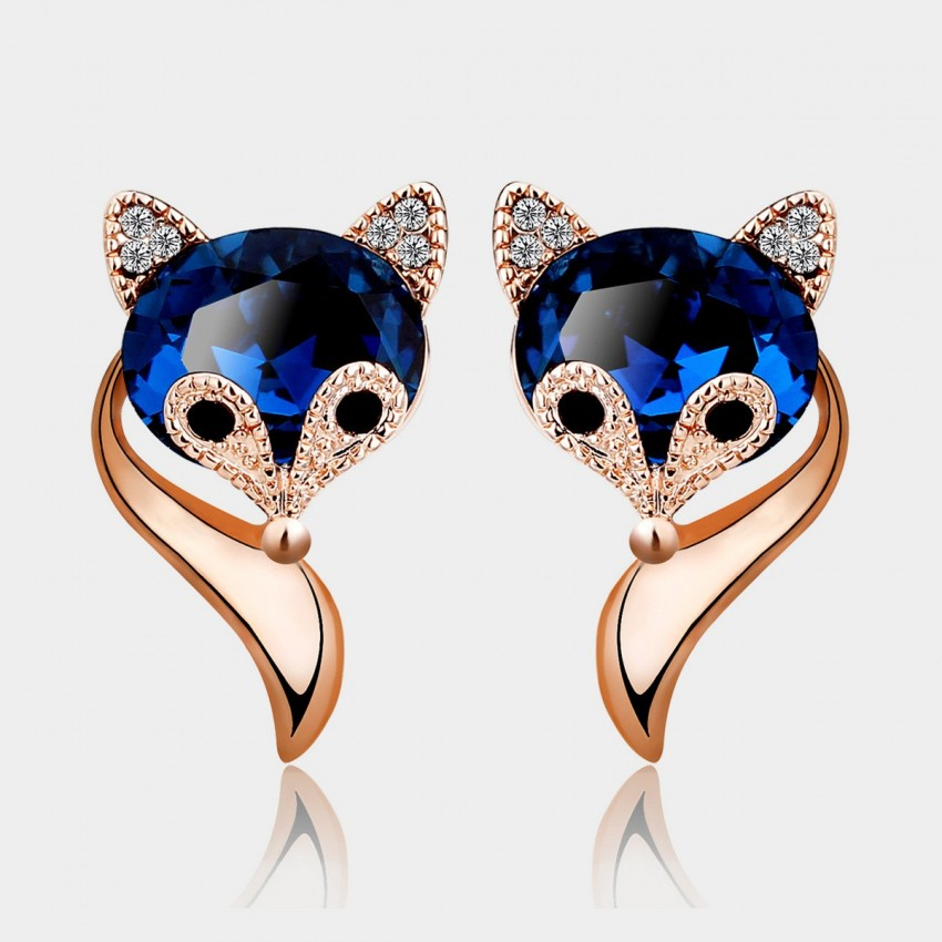 Caromay Charming Fox Rose Gold Earrings (E0380)